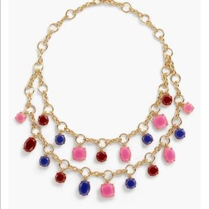 NWT Talbots Tea Rose Crystal Statement Necklace